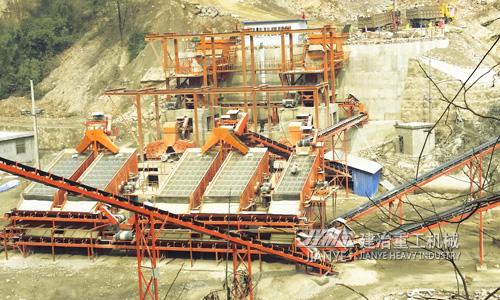 湖北宜昌时产1000吨碎石生产线