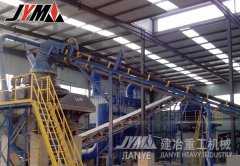 福建建筑垃圾厂棚式制砂机设备现场