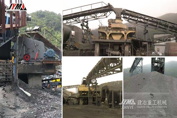 广西百色石灰石沙石生产线