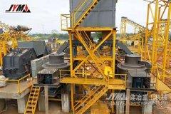 广西平南时产800吨的卵石制砂生产线